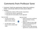 comments from professor sone