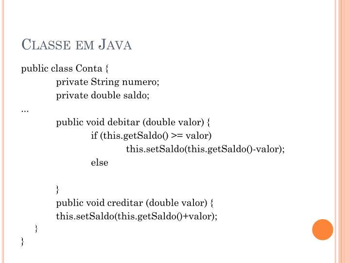 Classe em Java