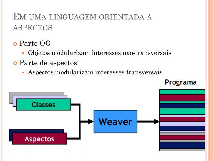 Em uma linguagem orientada a
