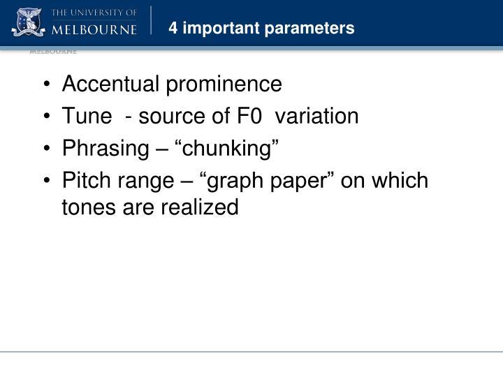 4 important parameters
