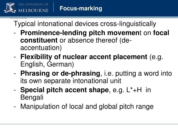 Focus-marking
