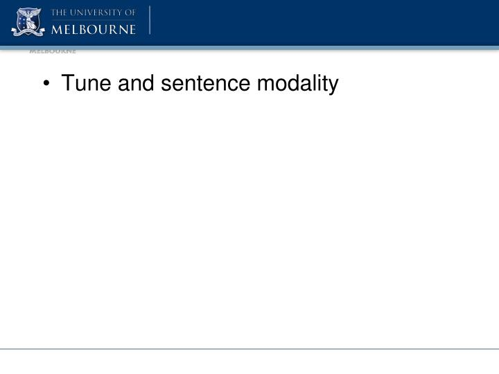 Tune and sentence modality