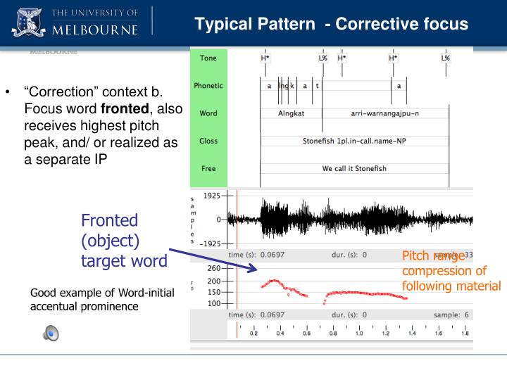 Typical Pattern  - Corrective focus