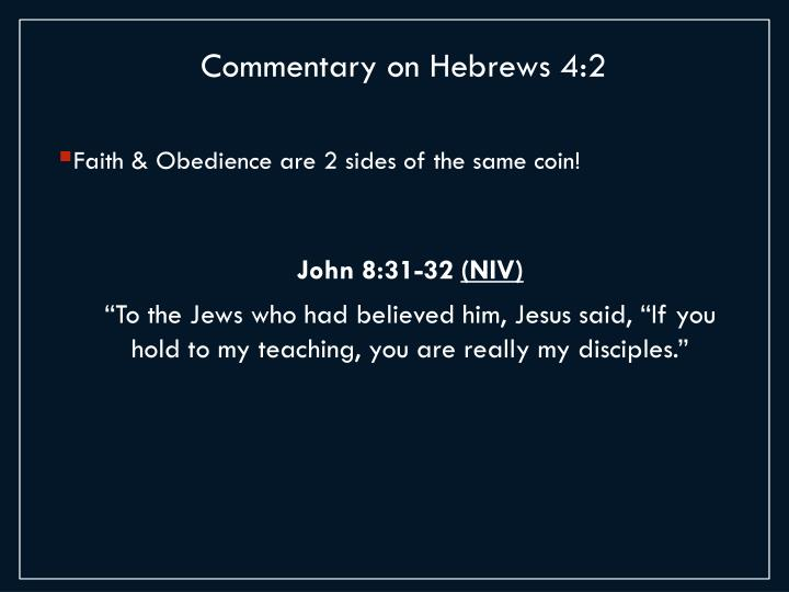 Commentary on Hebrews 4:2