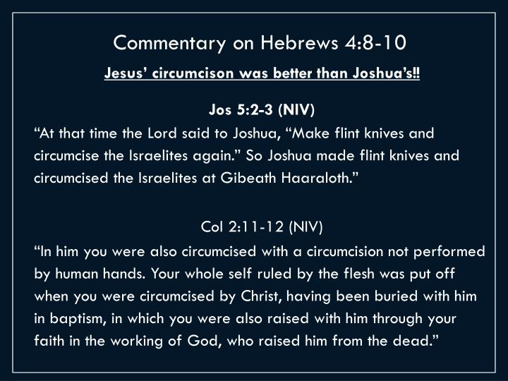 Commentary on Hebrews 4:8-10