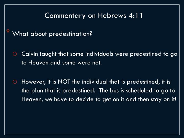 Commentary on Hebrews 4:11