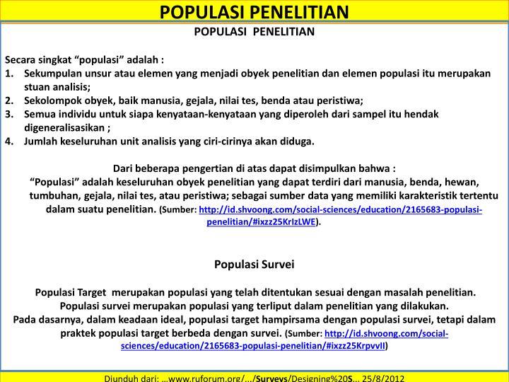 POPULASI PENELITIAN