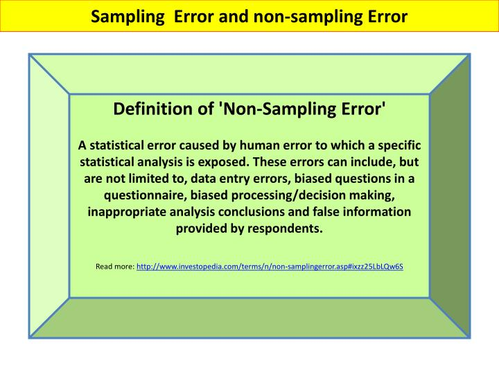 Sampling  Error and non-sampling Error