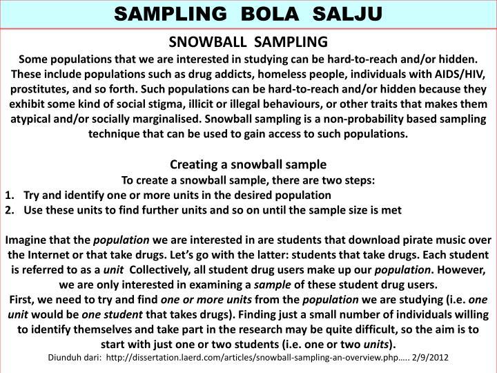 SAMPLING  BOLA  SALJU