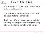 credit default risk