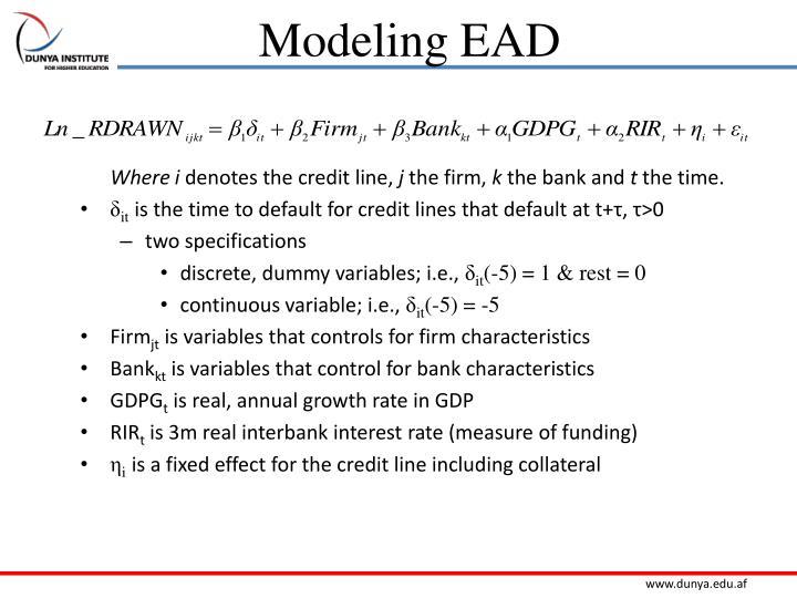Modeling EAD