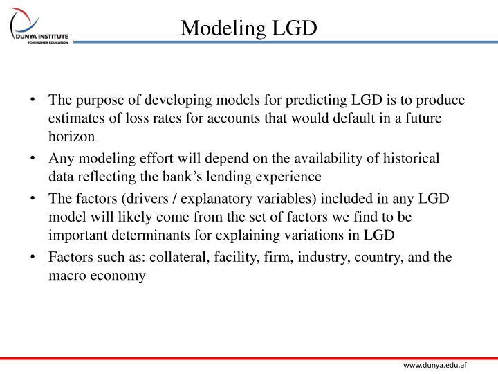 Modeling LGD