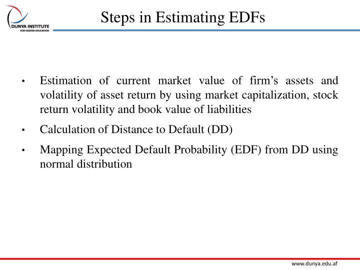 Steps in Estimating EDFs