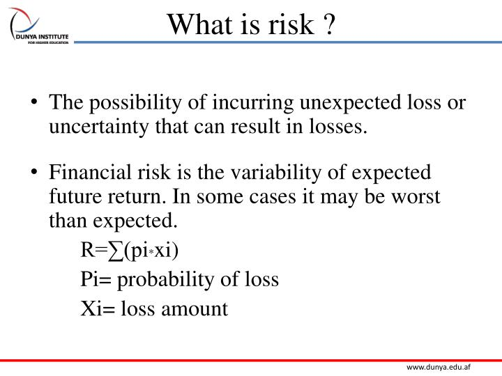 What is risk ?