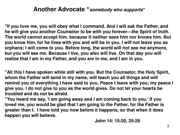 """Another Advocate """""""