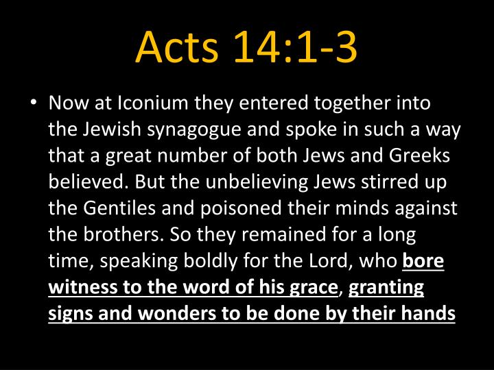 Acts 14:1-3