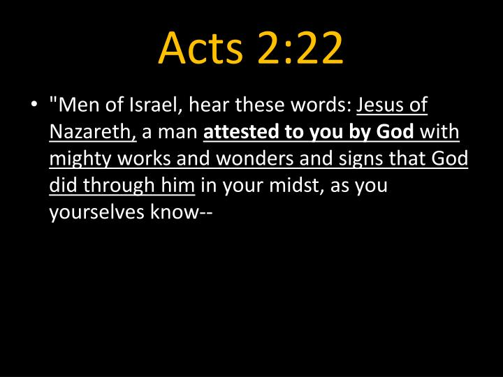 Acts 2:22