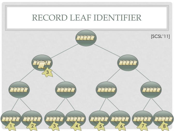 Record Leaf Identifier