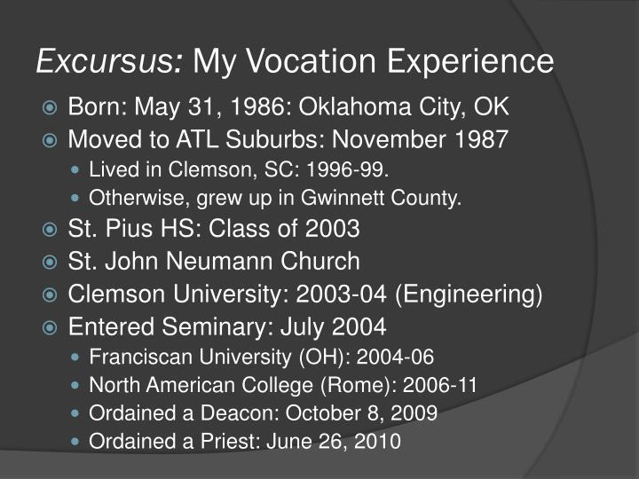 Excursus: