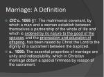 marriage a definition