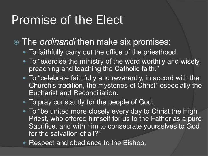 Promise of the Elect