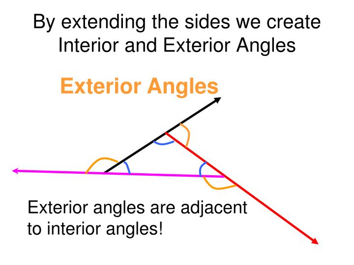 Ppt 4 1 triangles and angles powerpoint presentation - Definition of interior and exterior angles ...