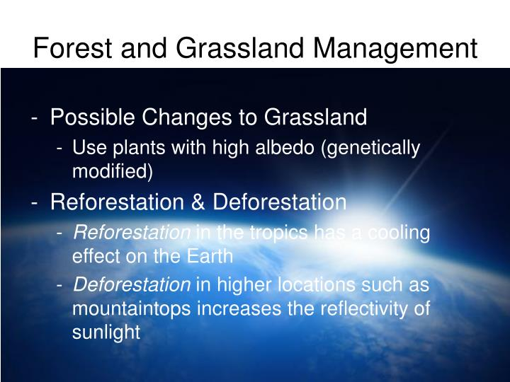 Forest and Grassland Management