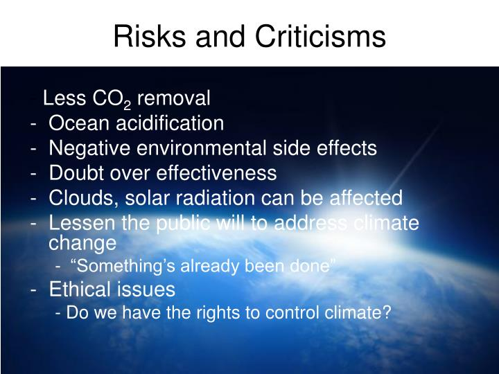 Risks and Criticisms