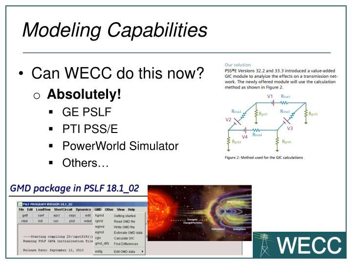 Modeling Capabilities