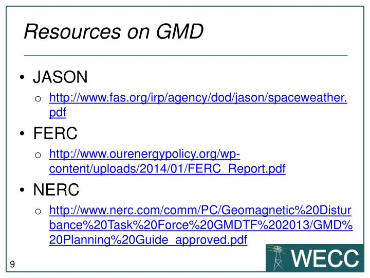 Resources on GMD