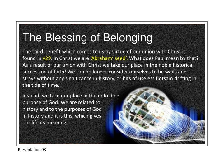 The Blessing of Belonging