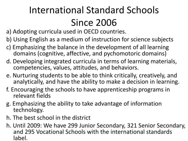 International Standard Schools