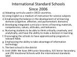 international standard schools since 2006