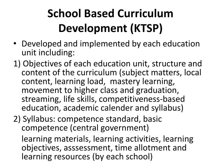 School Based Curriculum Development (KTSP)
