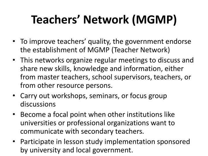 Teachers' Network (MGMP)