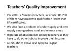 teachers quality improvement