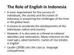 the role of english in indonesia