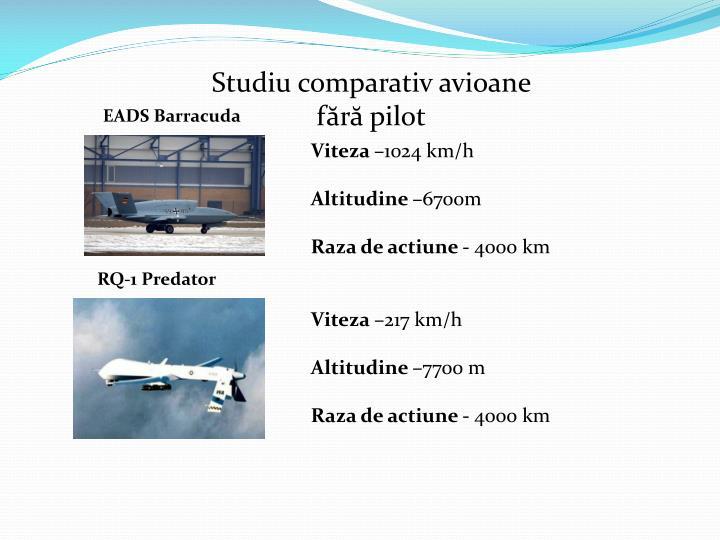 Studiu comparativ avioane fără pilot