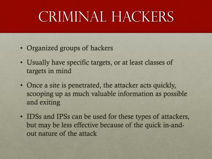 Criminal hackers