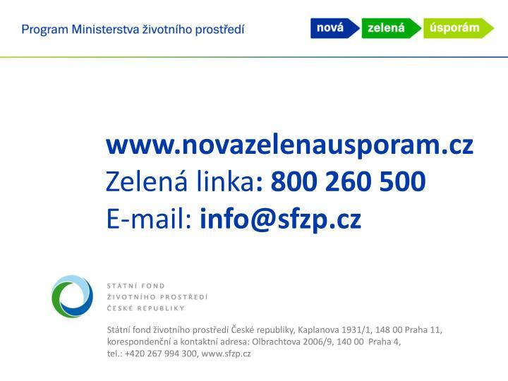www.novazelenausporam.cz