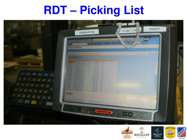 RDT – Picking List