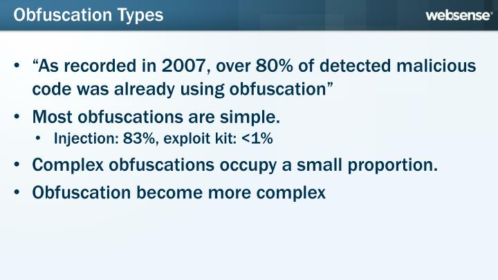 Obfuscation Types