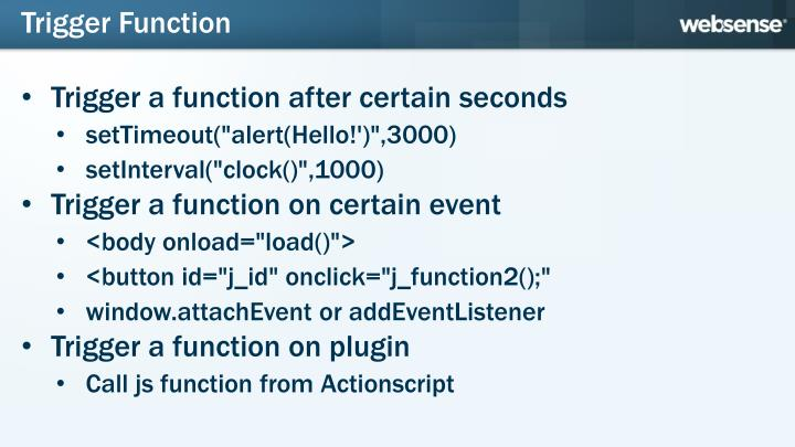 Trigger Function