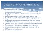 questions for once by the pacific