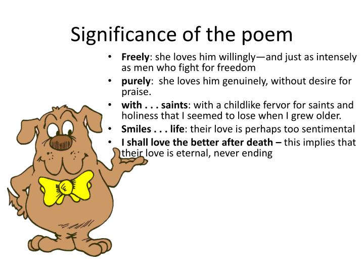 Significance of the poem