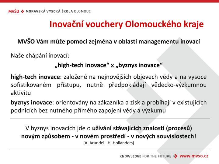 Inovační vouchery Olomouckého kraje