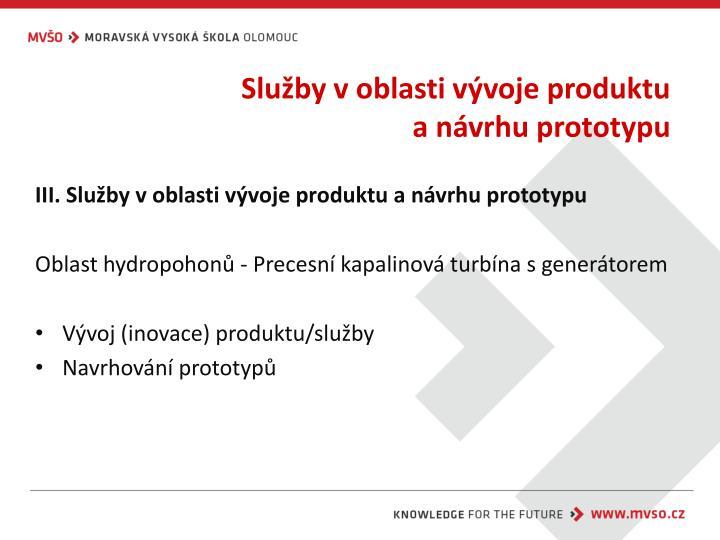 Služby v oblasti vývoje produktu