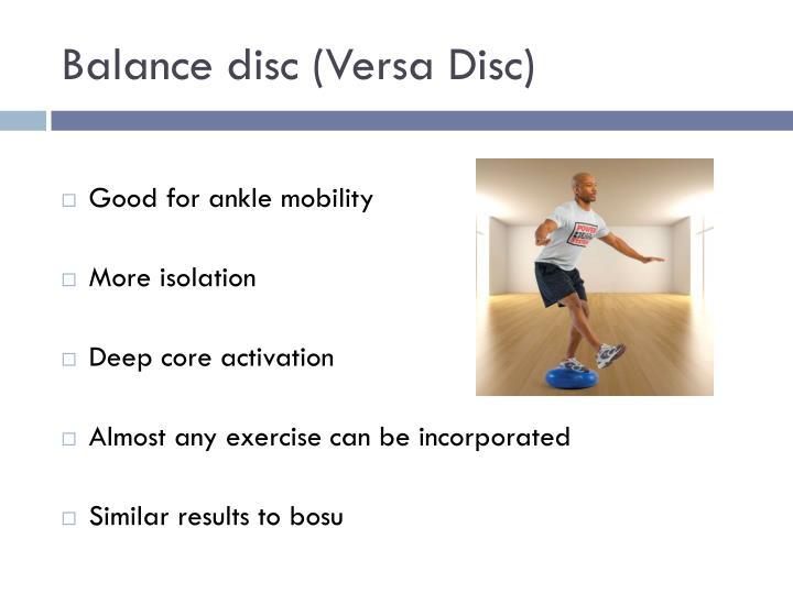 Balance disc (Versa Disc)