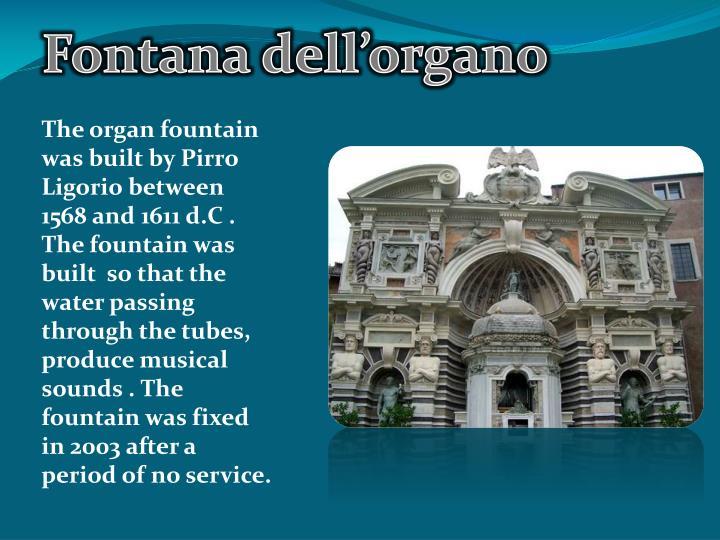 Fontana dell'organo