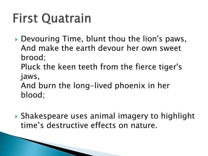 First Quatrain